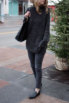 Comfy grey and black