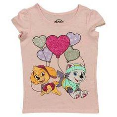 Nickelodeon® Paw Patrol Toddler Girls' Valentine's Day T-Shirt - Pink