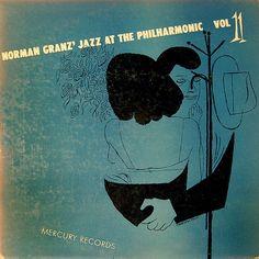 Norman Granz' Jazz At the Philharmonic, Vol 11, label: Mercury MG-35011 (1950) illustrator:David Stone Martin.
