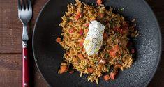 Κρεμμυδόρυζο με καστανό ρύζι