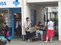Jamming on the street in Wells