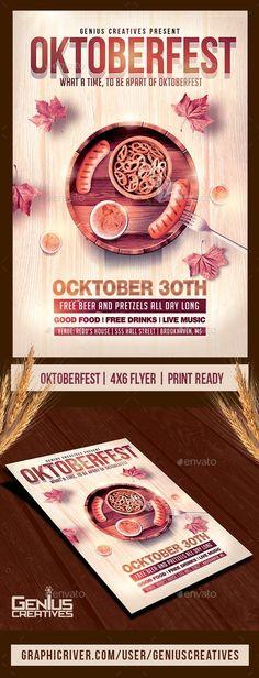 Oktoberfest Festival Flyer Template
