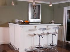 There are a lot of pre-built cabinets for home bars available #home #decor
