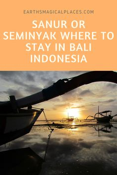Struggling to decide where to stay in Bali Indonesia? Then you need to read this article which compares the destrinations of Sanur and Seminyak.