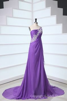 Light Purple A-line Zipper Natural Sleeveless Celebrity Inspired Prom Dresses