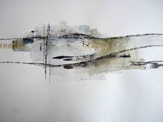 Debbie Lyddon. (England).   Watercolour, charcoal, wax.  placesightandsound.com