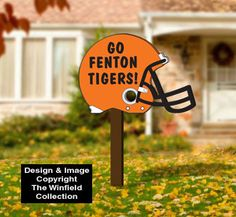 #Football Helmet Yard Art - Customizable #SuperBowl