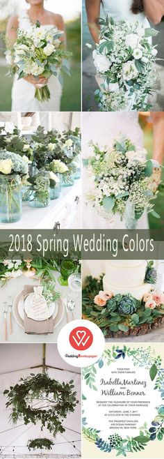 WEDDING COLOR: PRETTIEST 2018 SPRING COLOR PALETTES INCORPORATED WITH WEDDING INVITATIONS #wedding #weddingideas