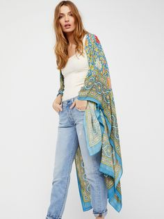 Magic Dance Border Print Kimono at Free People Clothing Boutique