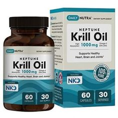 Neptune Krill Oil by DailyNutra - High Absorption EPA DHA & Astaxanthin. Clinically Shown to Support Healthy Heart, Brain and Joints Servings / 60 softgels) Omega 3 Epa Dha, Krill Oil, Living A Healthy Life, Fish Oil, Nutrition, Pure Products, Top 14, Heavy Metal, Water