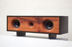 Gorgeous upcycled Bluetooth speaker handmade in the USA from reclaimed wood.