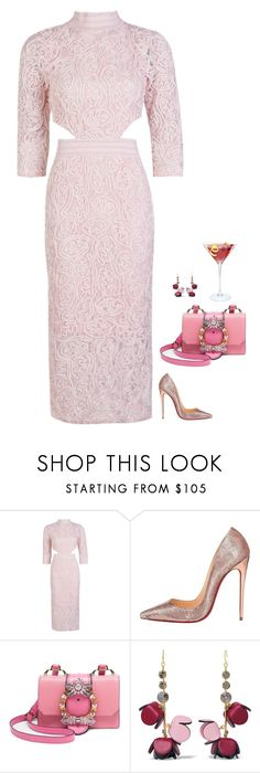 """#6756"" by azaliyan ❤ liked on Polyvore featuring Boohoo, Christian Louboutin, Miu Miu and Marni"