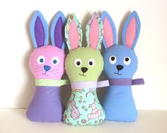 Stuffed Bunny Pattern - Hoppy Loppy Bunny PDF Sewing Pattern - Soft Toy for Babies Toddlers Plush Easter Bunny for Springtime Peek-a-Boo. $8.00, via Etsy.
