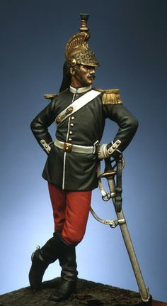Officer of Dragoons 1870 Napoleon French, French Empire, Lead Soldiers, Toy Soldiers, Gay Uniform, Dragons, Colonel, Military Figures, Second Empire