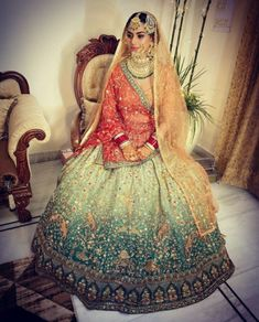 Try this new look on your wedding Bridal Lehenga Collection, Sikh Bride, Royal Brides, Her Style, New Look, Women Wear, Vogue, Couture, Elegant