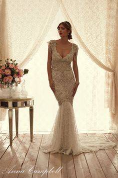 SierraFrontDropSkirt anna campbell wedding gown bmodish