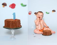 Woodland Critters Smash Cake by The Cake Mom &  Co. (photo by Coco Captures)