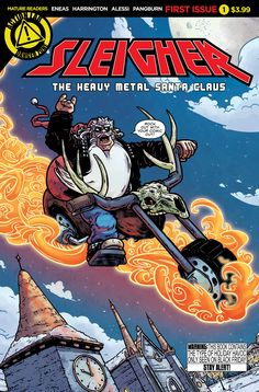 Sleigher #1- Action Lab - Story: R.Harrington, A. Horrigan Art: A. Eneas  Colors: Alessi
