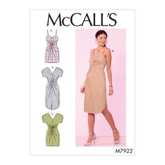 McCall's 7922 Misses' Dresses sewing pattern Corsage, Clothing Patterns, Dress Patterns, Patron Butterick, Maternity Patterns, Mode Kimono, Sewing Blogs, Sewing Projects, Upcycling Projects