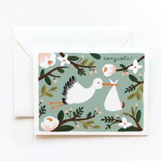 Congrats Stork Card
