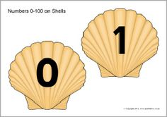 Numbers 0-100 on shells (SB9767) - SparkleBox