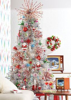 All is Bright Christmas Tree by RAZ Imports - Happy Christmas - Noel 2020 ideas-Happy New Year-Christmas Retro Christmas Tree, Elegant Christmas Trees, Christmas In Paris, Christmas Trends, Modern Christmas, Christmas Time, Merry Christmas, Holiday Ideas, Country Christmas Trees