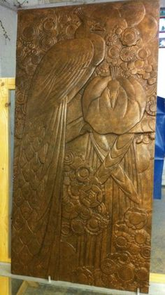 Art Deco frieze taken from originals sold through Christies to the V museum London. Designed by the Bromsgrove Guild in 1929 for the Derry and Toms building which then became the home of Biba Kensington High Street London. Cast and sold in a range of finishes. Alfrescostone.com Templestone.co.uk