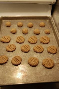 Low-Carb Peanut Butter Cookies - only 4 ingredients:PB eggs vanilla and splenda (or such)