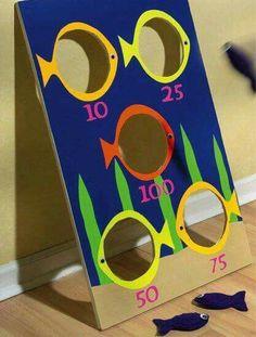 Crafts n' things Weekly - fish bean bag toss game(Diy Pour Enfant) Toddler Activities, Activities For Kids, Painting Activities, Fish Games For Kids, Motor Activities, Kids Crafts, Wood Crafts, Bag Toss Game, Bean Bag Throwing Game