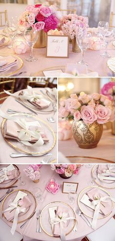 A Feminine, Elegant Baby Shower in Pink and Gold - On to Baby