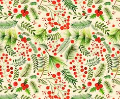 Margaret Berg Art: Christmas+Berries+&+Foliage