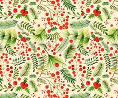 Margaret Berg Art: Christmas+Berries+&+Foliage