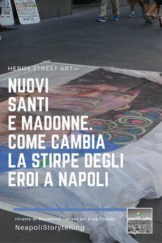 Un tempo c'erano Gesù, Madonne e Sacre Famiglie. Adesso una nuova stipe di eroi raduna l'identità del popolo napoletano. Il dio del calcio regna sui muri e lungo le strade. ___  #storyteller #streetart #maradona #napoli