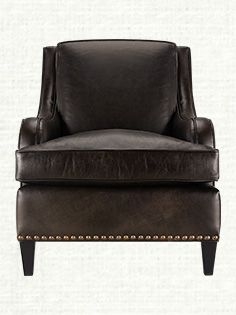 Atticus Leather Chair in Brindle Angus and Libby Espresso