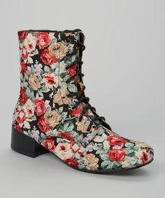 Black Floral Moda Boot