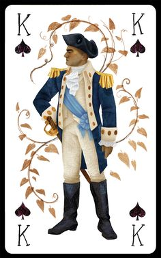 George Washington as King of Spades Hamilton Face Cards Alexander Hamilton, Hamilton Fanart, Hamilton Puns, Hamilton Quotes, King Of Spades, Hamilton Lin Manuel Miranda, Aaron Burr, Hamilton Musical, Hamilton Broadway