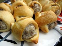 Sausage and Cream Cheese Crescents - only 3 ingredients! Great breakfast or party food! Can make filling ahead of time. People go crazy over these things!