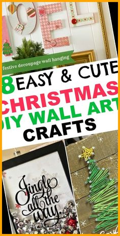 Christmas DIY home decor projects to deck out your walls. Holiday wall art decorating ideas to inspire you and decorate for Christmas and winter on a budget. #Christmas #Decor #Ideas #Home #Wall crafts to make and sell ideas 18 Christmas DIY Home Decor Wall Art Ideas 17+ Crafts To Make And Sell Ideas 2020 Wall Art Crafts, Home Decor Wall Art, Diy Crafts, Holiday Crafts, Christmas Crafts, Christmas Decorations, Crafts To Make And Sell, Diy Home Decor Projects, Diy Weihnachten