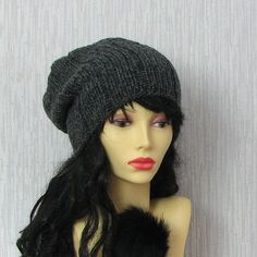 Chunky knit hat. Hand knitted beanie. Womens by AlbadoFashion