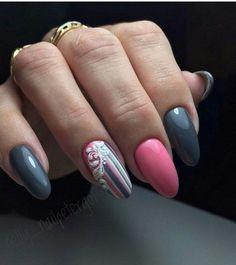 Nail Shapes - My Cool Nail Designs Winter Nail Designs, Cool Nail Designs, Acrylic Nail Designs, Acrylic Nails, Pink Nail Polish, Pink Nails, My Nails, Pink Nail Colors, Latest Nail Art