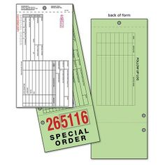 Special Order Tag - Type S - Without Shop Name   This 3-ply form has all of the information you need to efficiently track your special orders from start to finish.
