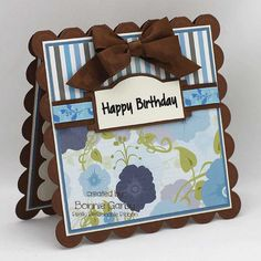 Make Time to Craft Birthday Sentiments, Birthday Cards, Happy Birthday, Ribbon Headbands, Ribbon Banner, Square Card, Card Making Inspiration, Cool Fonts, Digital Stamps