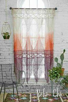 Knitt World Macrame Door Curtain Handmade Bohemian Macrame Wall Decor Boho Chic Style Macrame Curtain Christmas Decoration 50 Hippie Stil, Sweet Home, Sweet Sweet, Bohemian Wall Decor, Macrame Curtain, My New Room, Decoration, Home Deco, Room Inspiration