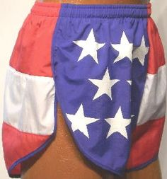 American flag running shorts...These are cool!