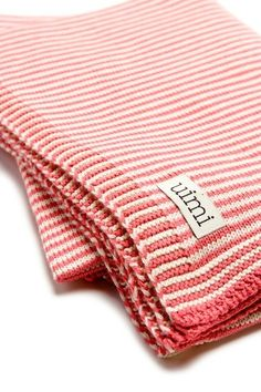Simple stripes. Strawberry and cream striped blanket inspiration