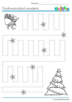 Photo Christmas Crafts For Kids To Make, Preschool Christmas, Noel Christmas, Christmas Activities, Tracing Worksheets, Kindergarten Worksheets, Home Learning, Learning Centers, Preschool Curriculum