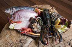 Pescado y mariscos en el Restaurante Bruno en Port Adriano, Mallorca!