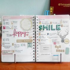 """Last week's layout~ ^^ #plannerobsessed #personalplanner #plannerlove #plannerjunkie #planneraddict #plannernerds #stickers #stationeryaddict…"""