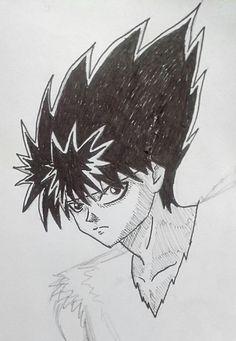 #illustration #ilustração #sketch #sketchbook #draw #drawing #desenho #YuYuHakusho #Hiei #fanart