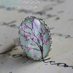 Kirsikkapuu sormus